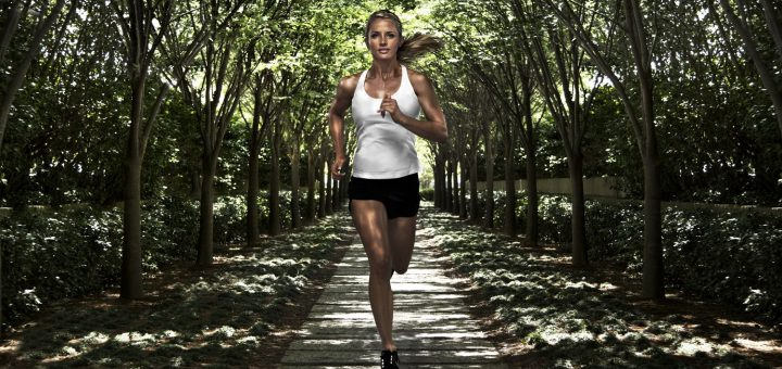 donna running Matrix Fitness